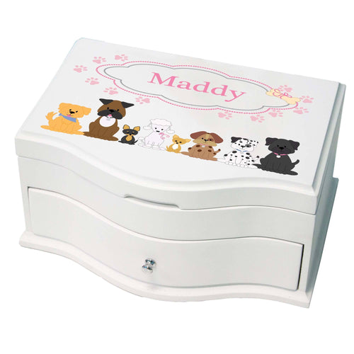 Princess Girls Jewelry Box with Pink Dog design