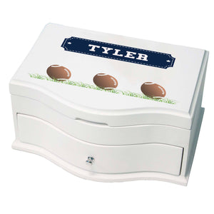 Princess Girls Jewelry Box with Footballs design