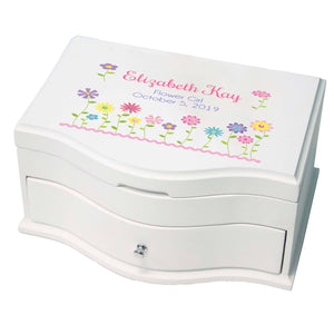 Girl's Princess Jewelry Box - Stemmed Flowers