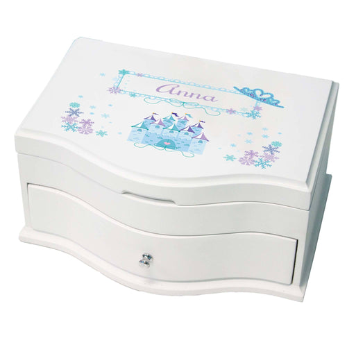 Princess Girls Winter Princess Jewelry Box