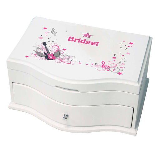 Princess Girls Jewelry Box with Pink Rock Star design
