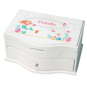 Princess Girls Jewelry Box with Mermaid Princess design