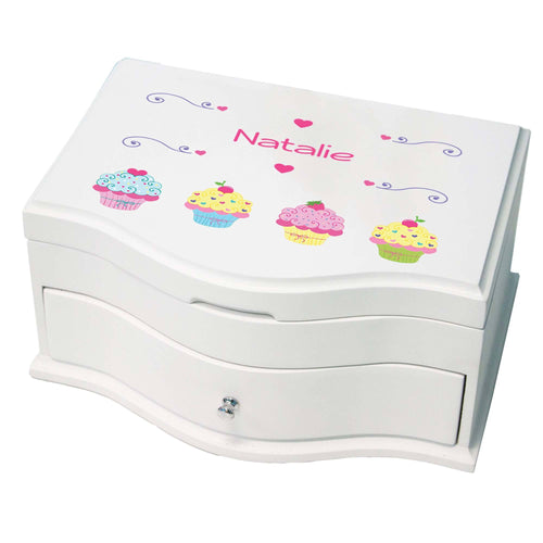 Princess Girls Jewelry Box with Cupcake design