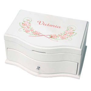 Princess Girls Jewelry Box with Blush Floral Garland design