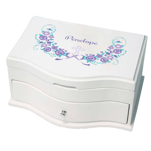 Princess Girls Jewelry Box with Hc Lavender Floral Garland design