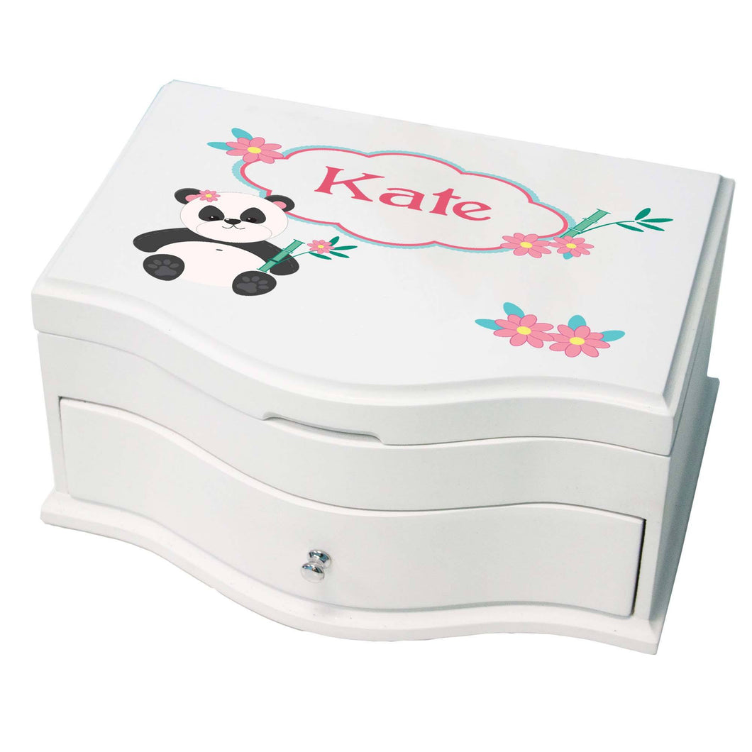 Princess Girls Panda Jewelry Box