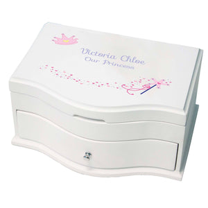 Princess Girls Jewelry Box with Fairy Princess design