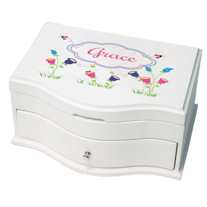 Princess Girls Jewelry Box with English Garden design