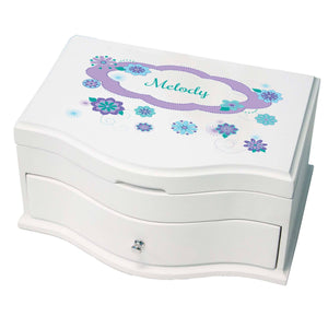Princess Girls Jewelry Box with Florascope design