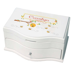 Princess Girls Jewelry Box with Honey Bees design