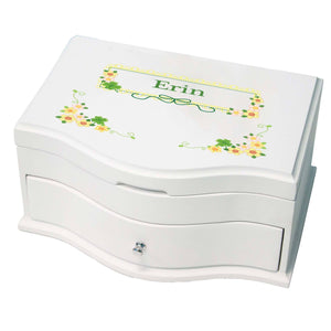 Princess Girls Jewelry Box with Shamrock design