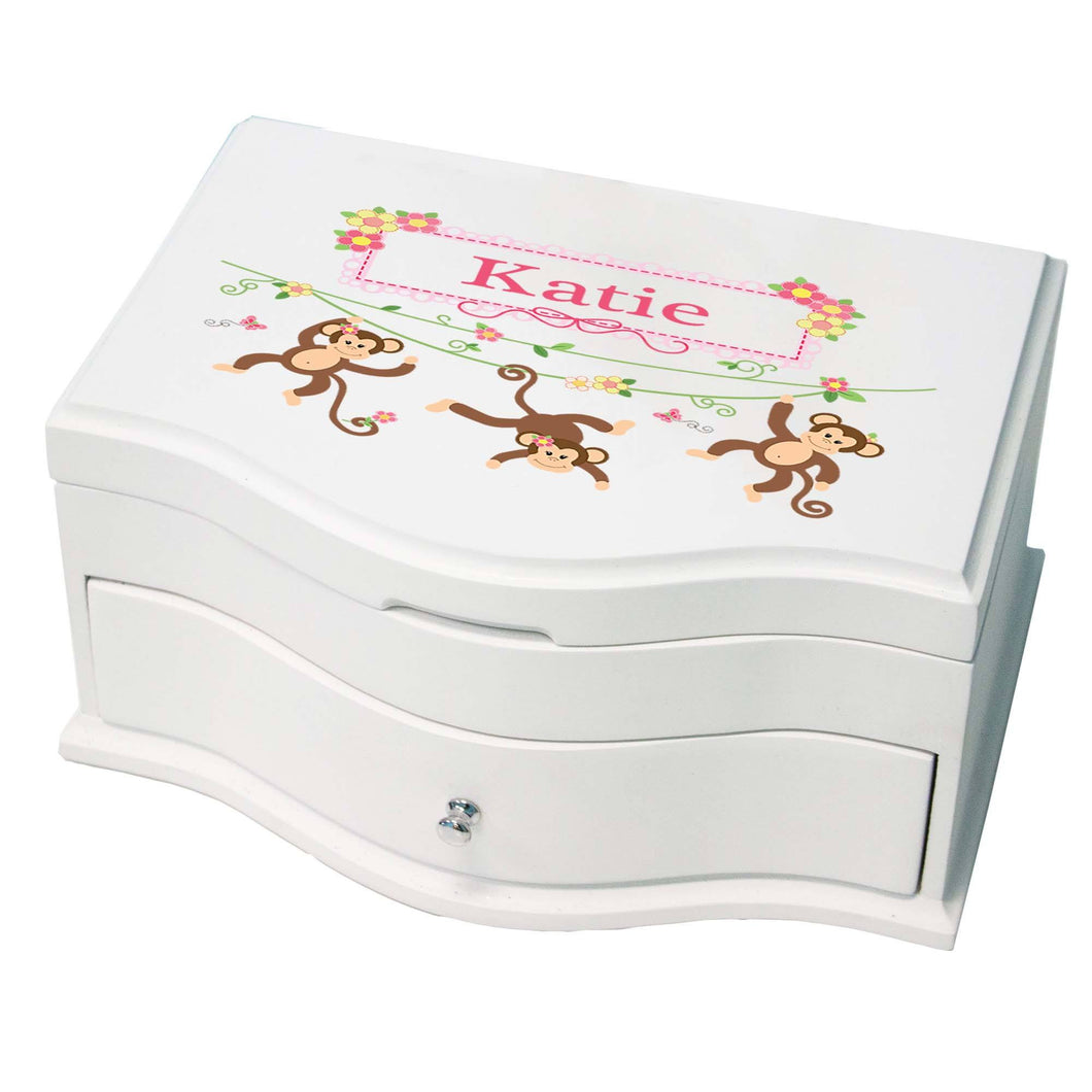 Princess Girls Jewelry Box Monkey pink