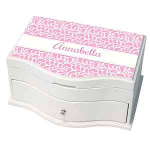 Personalized Pink Dancing Drops Princess Jewelry Box