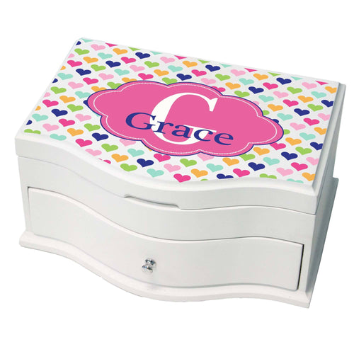 Personalized Sweet Hearts Princess Jewelry Box