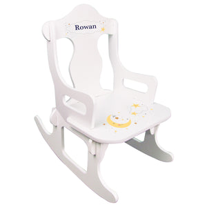 Personalized Celestial Moon Puzzle Rocker