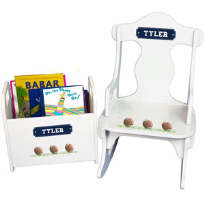 Personalized Footballs Rock And Read baby gift set