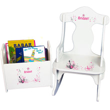Personalized Pink Rock Star Book Caddy And Puzzle Rocker baby gift set
