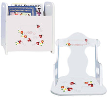 Personalized Red Ladybug Book Caddy And Puzzle Rocker baby gift set