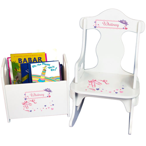 Rock and Read baby gift set with Ballet Princess design