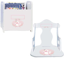 Personalized Swan Book Caddy And Puzzle Rocker baby gift set
