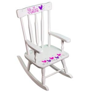 Deluxe Victorian Rocking Chair-White