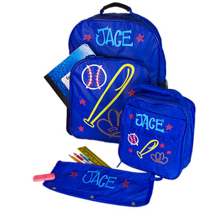 personalized backpack set