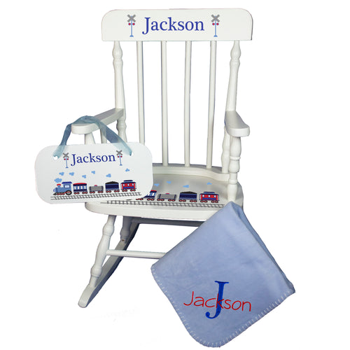 Baby Rocking Chair Gift Set for Boy