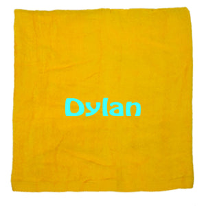 Personalized Beach Towel Yellow