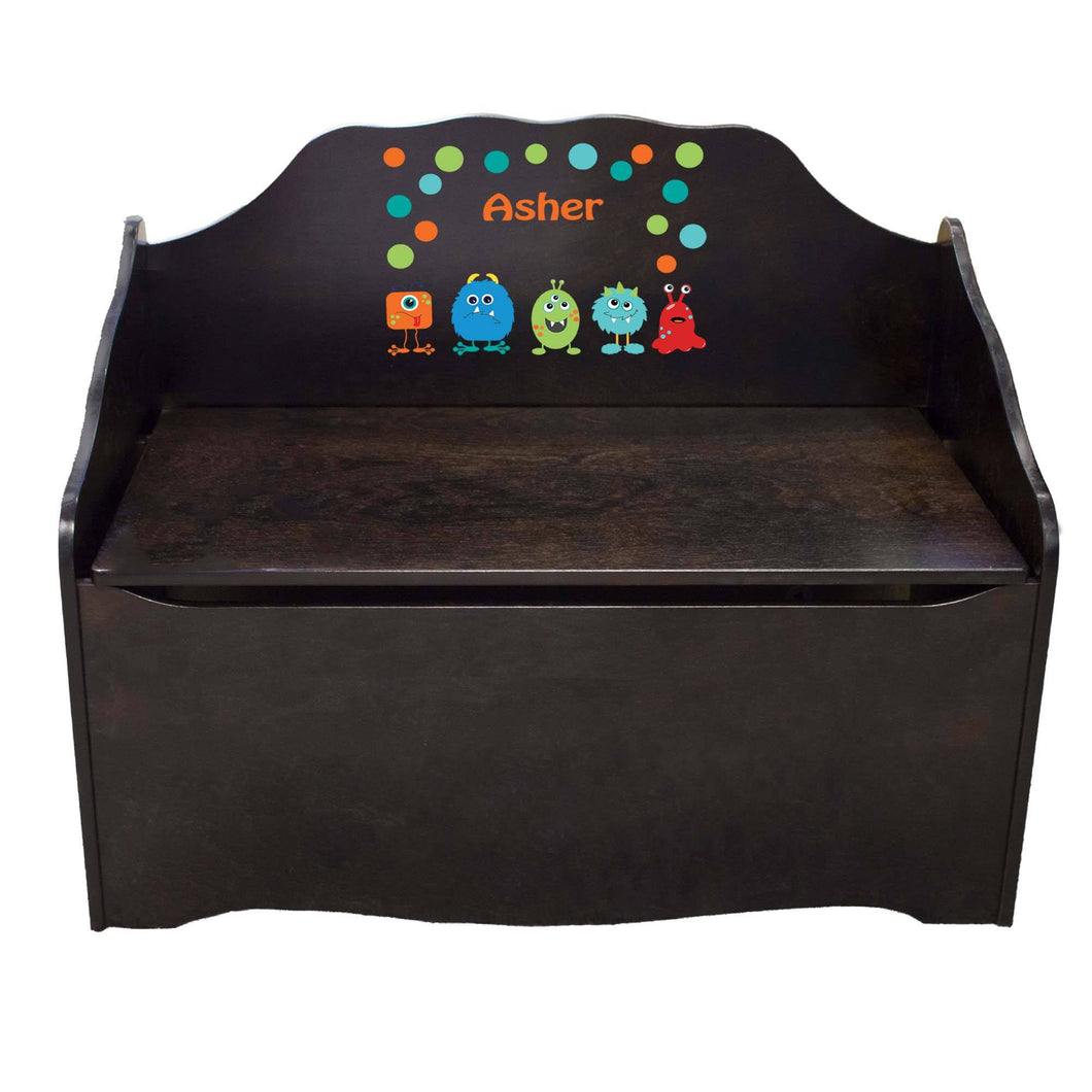 Personalized Monster Mash Espresso Toy Chest