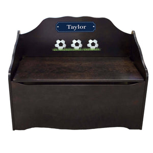 Personalized Soccer Espresso Toy Chest