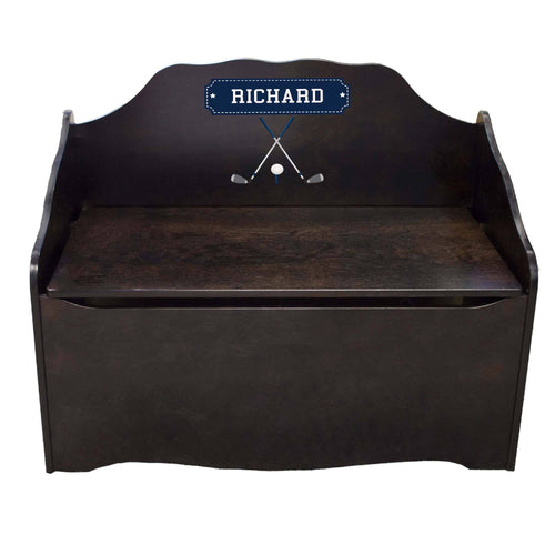 Personalized Golf Espresso Toy Chest