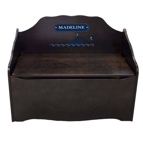 Personalized Swim Espresso Toy Chest