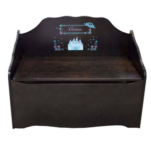 Personalized Ice Princess Espresso Toy Chest
