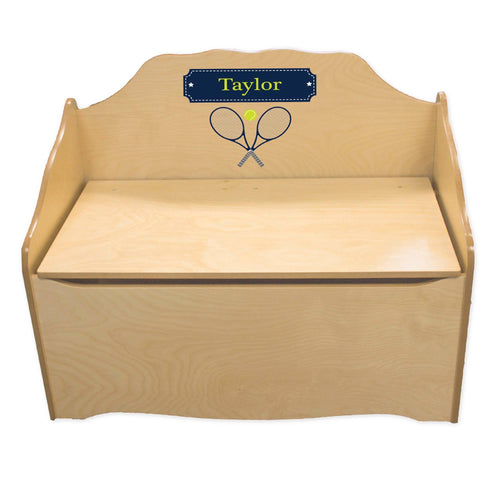 Personalized Tennis Natural Toy Chest