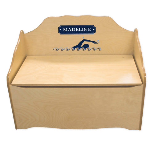 Personalized Swim Natural Toy Chest