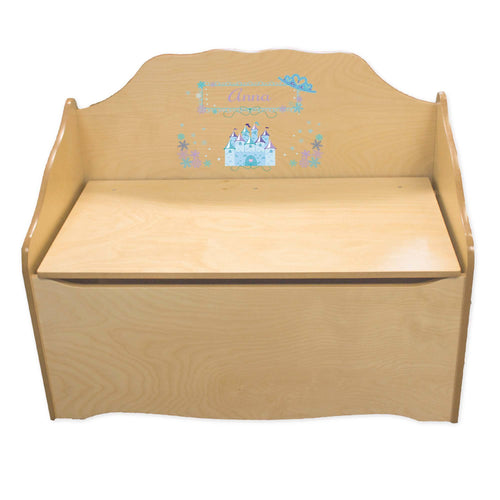 Personalized Ice Princess Natural Toy Chest