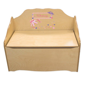 Personalized Ballet Princess Natural Toy Chest