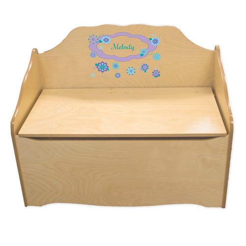 Personalized Florascope Natural Toy Chest