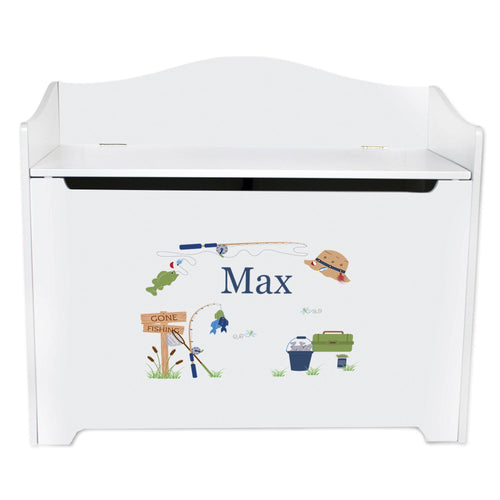 Personalized Fishing Toy Box
