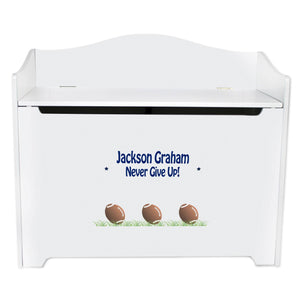 Personalized Football Toy Box