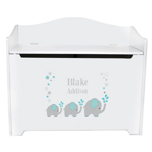 Custom Gray Elephant Toy Chest