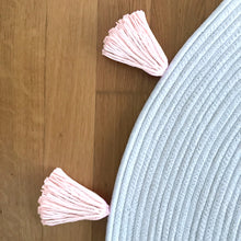 Tassel Rope Rug - Blush