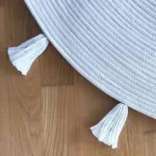 Tassel Rope Rug - Light Blue