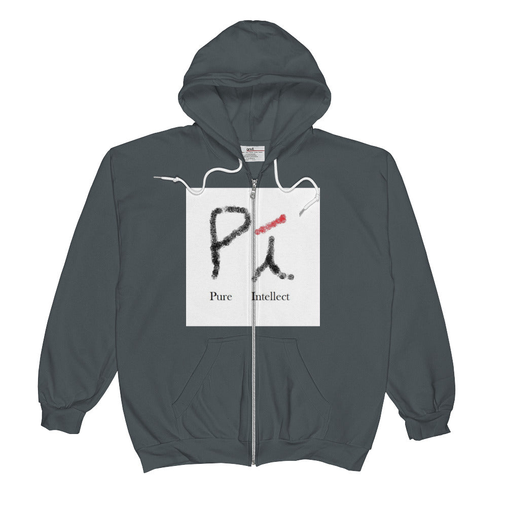 Mens Pure Intellect Logo Zip Hoodie