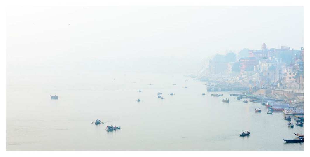 Morning mist over Varanasi
