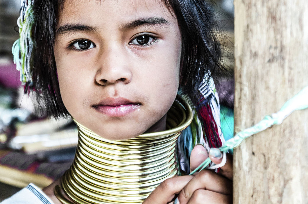 Kayan tribe from Burma (Long Neck) - #1-color