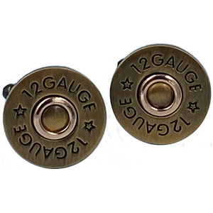 12 Gauge Shotgun Shell Cufflinks