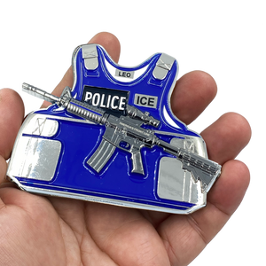 DL5-11 ICE M4 Body Armor 3D self standing Challenge Coin Immigration and Customs Enforcement HSI ERO Thin Blue Line