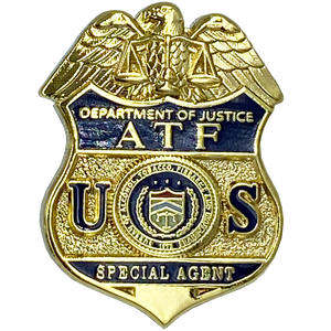 CL-009 ATF Special Agent Pin with deluxe spring loaded clasp
