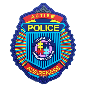 DL10-13 Massachusetts Clamshell Autism Awareness Month Officer Police Patch